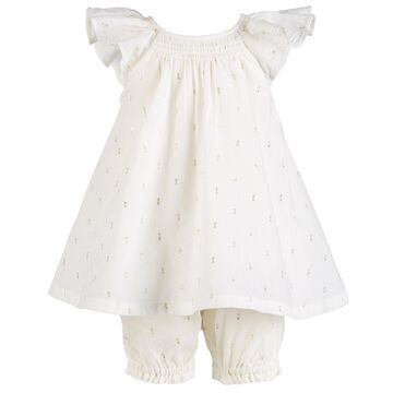 First Impression's Baby Girl's Metallic Romper, Created for Macy's