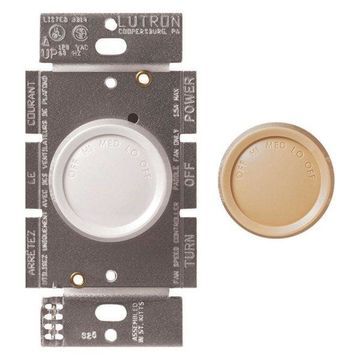 Lutron Rotary On/Off Fan-Speed Fully Variable Controls