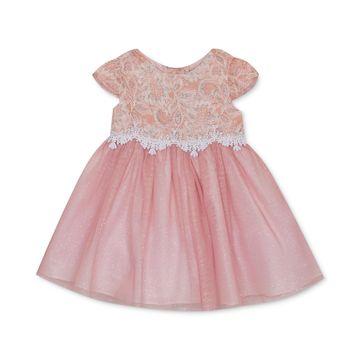 Baby Girls Sparkle Lace Dress