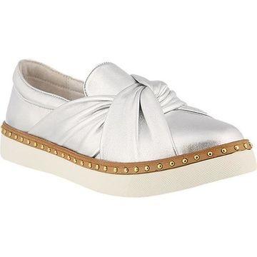 Azura Women's Thatsarap Slip On Sneaker Silver Leather