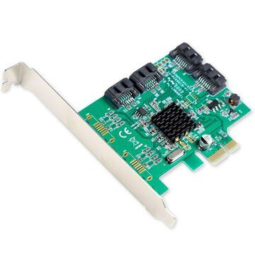 Syba SI-PEX40064 4-Port Internal SATA3 III Marvell 88SE9215 Controller Card NEW