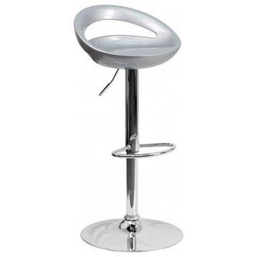 Flash Furniture Silver Contemporary Barstool