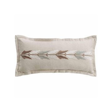 HiEnd Accents Embroidered Linen Pillow