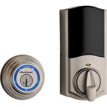Kwikset Kevo Touch-to-Open Smart Lock, 2nd Gen featuring SmartKey Security in Satin Nickel