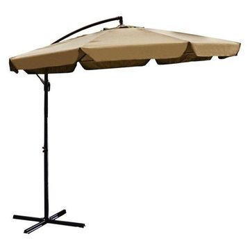 Aleko Patio Banana Hanging Umbrella, 10', Sand