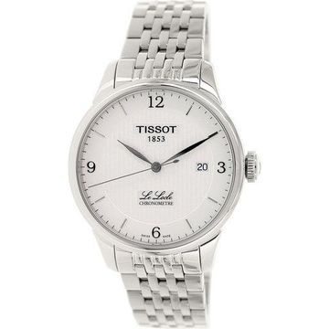 Tissot Men's Le Locle T006.408.11.037.00 Silver Stainless-Steel Plated Swiss Quartz Dress Watch