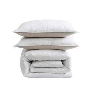 Ed Ellen Degeneres Washed Cotton Full/Queen Duvet Cover Set, 3 Piece Bedding