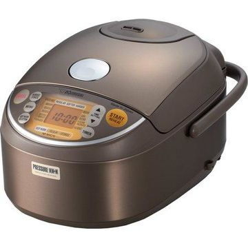 Zojirushi NP-NVC10XJ Induction Heating Pressure Rice Cooker & Warmer, 5.5 Cup (Uncooked), Stainless Brown, Made in Japan