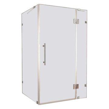 Aston Avalux Frameless Shower Enclosure, Stainless Steel, 42