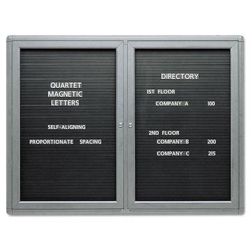 Quartet Enclosed Magnetic Directory 48 x 36 Black Surface Graphite Aluminum