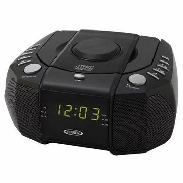 AM/FM Stereo Dual-Alarm Clock Radio with Top-Loading CD Player and Digital Tuner