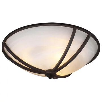 PLC Lighting 3-Light Ceiling Light, Highland Collection 14864 ORB
