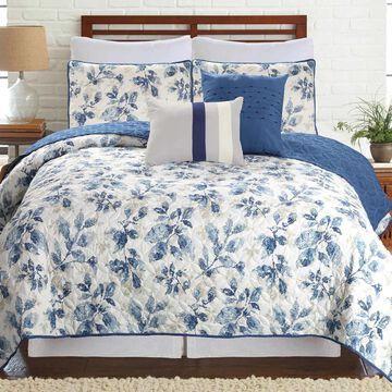 Amrapur Overseas Venetian Leaves 5-piece Printed Reversible Quilt Set