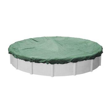 Robelle 15-Year XL Green Round Winter Pool Cover, 24 ft. Pool