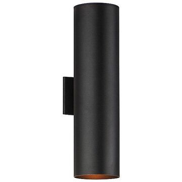 Maxim Lighting Outpost Outdoor Wall Sconce - Color: Black - Size: Large - 86405BK
