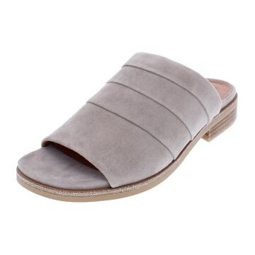 Gentle Souls Womens Gayle Suede Open Toe Slide Sandals
