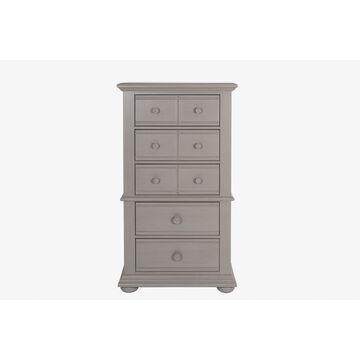 Liberty Washed Gray 5 Drawer Lingerie Chest