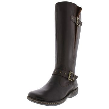 B.O.C. Womens Austin Wide Calf Leather Riding Boots