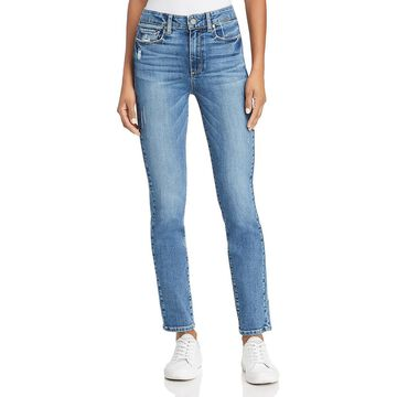 Paige Womens Hoxton Denim High Rise Skinny Jeans