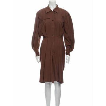 Vintage Midi Length Dress Brown