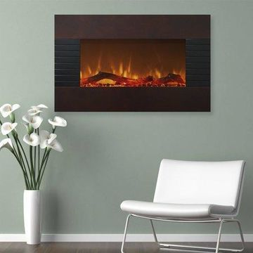 Northwest 36 inch Wall Mounted Electric Fireplace, Mahogany
