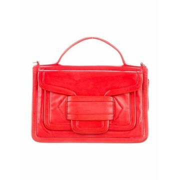Smooth Leather Crossbody Red