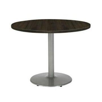 "KFI Urban Loft Round Office Table, Round Silver Base, 30in Height (36"" round top - Espresso)"