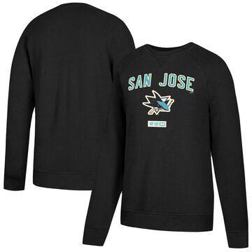 Men's CCM Black San Jose Sharks Fleece Pullover Sweatshirt