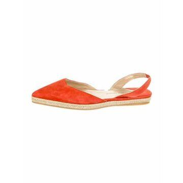 Suede Slingback Flats Orange