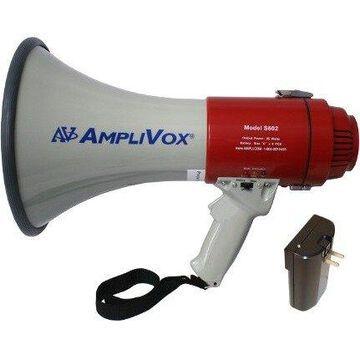 AmpliVox S602R - Mity-Meg 25-Watt Megaphone - 25 W Amplifier - Built-in Amplifier - Battery Rechargeable - 40 Hour