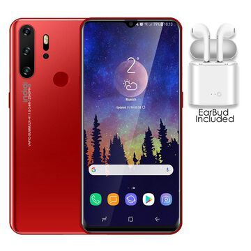 P1 Gaming SmartPhone by Indigi, 6.3-in HD, 10-Core CPU, 6GB RAM & 128GB Storage, Android 9.1 OS (Crimson)