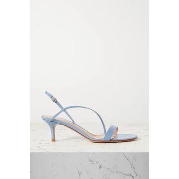 Gianvito Rossi - Manhattan 55 Patent-leather Sandals - Blue