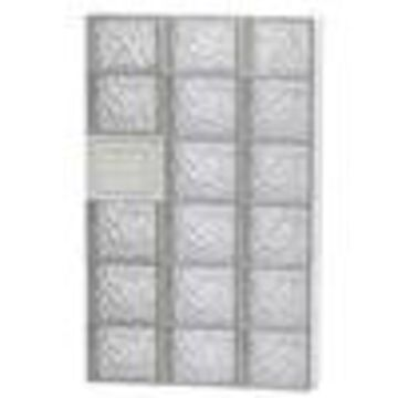 REDI2SET Ice Glass Pattern Frameless Replacement Glass Clear Block Window (Rough Opening: 24-in x 44-in; Actual: 23.25-in x 42.5-in)