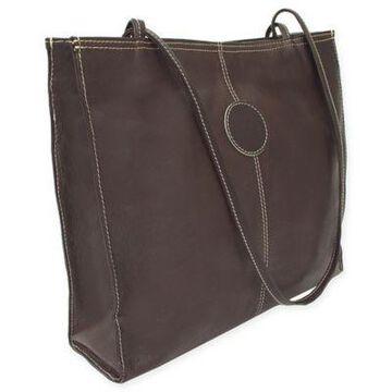 Piel Leather Medium Market Bag in Chocolate