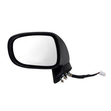 70666T - Fit System Driver Side Mirror for 08-09 Lexus ES350, black, PTM, w/ puddle lamp, memory, foldaway, Driver Side, Heated Power