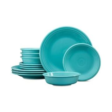 Fiesta Turquoise 12-Pc. Classic Dinnerware Set, Service for 4