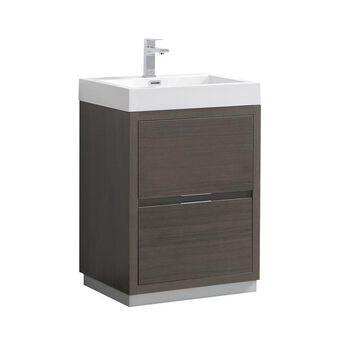 Fresca Fresca Valencia 24-in Gray Oak Free Standing Modern Bathroom Vanity