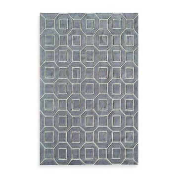 Rugs America Jourdan Tiles 5-Foot x 8-Foot Area Rug in Grey