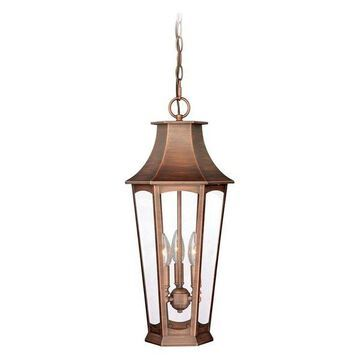 Vaxcel Lighting T0122 Preston 3 Light Outdoor Pendant