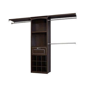allen + roth 8-ft W x 6.83-ft H Java Wood Closet Kit