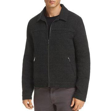 Karl Lagerfeld Paris Mens Fall Wool Blend Jacket
