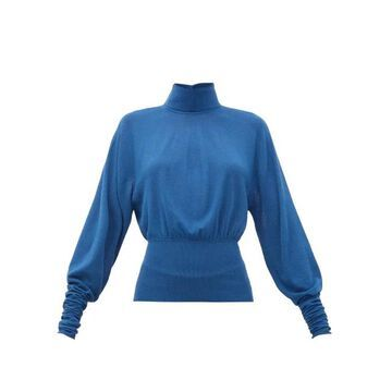 Lemaire - Roll-neck Knitted Sweater - Womens - Blue
