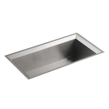 KOHLER Poise Undermount 33-in x 18-in Stainless Steel Single Bowl Kitchen Sink   3387-NA