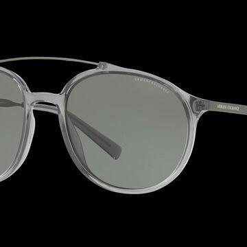Armani Exchange Man AX4069S - Frame color: Grey, Lens color: Green, Size 57-18/140