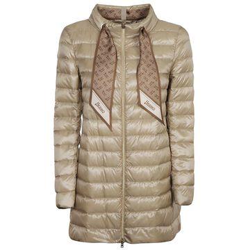 Herno A Shape Nylon Foulard Monogram Padded Raincoat