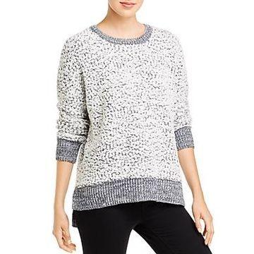 Cupio Textured Knit Long Sleeve High-Low Sweater