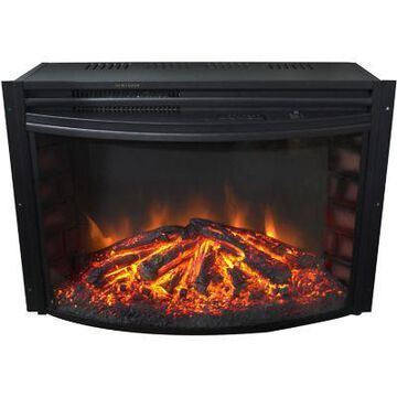 Cambridge 25 in. Freestanding Curved Fireplace, CAM25CINS-1BLK