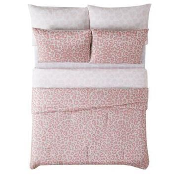 Material Girl Leopard 5 Piece Bed in a Bag, Twin Bedding