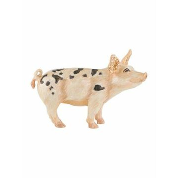 Limited Edition Embellished Pig Figurine w/ Tags pink