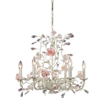 Elk Lighting 'Heritage' 6-light Cream Chandelier